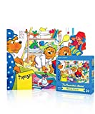 New York Puzzle Company - Berenstain Messy Room - 20 Piece Jigsaw Puzzle