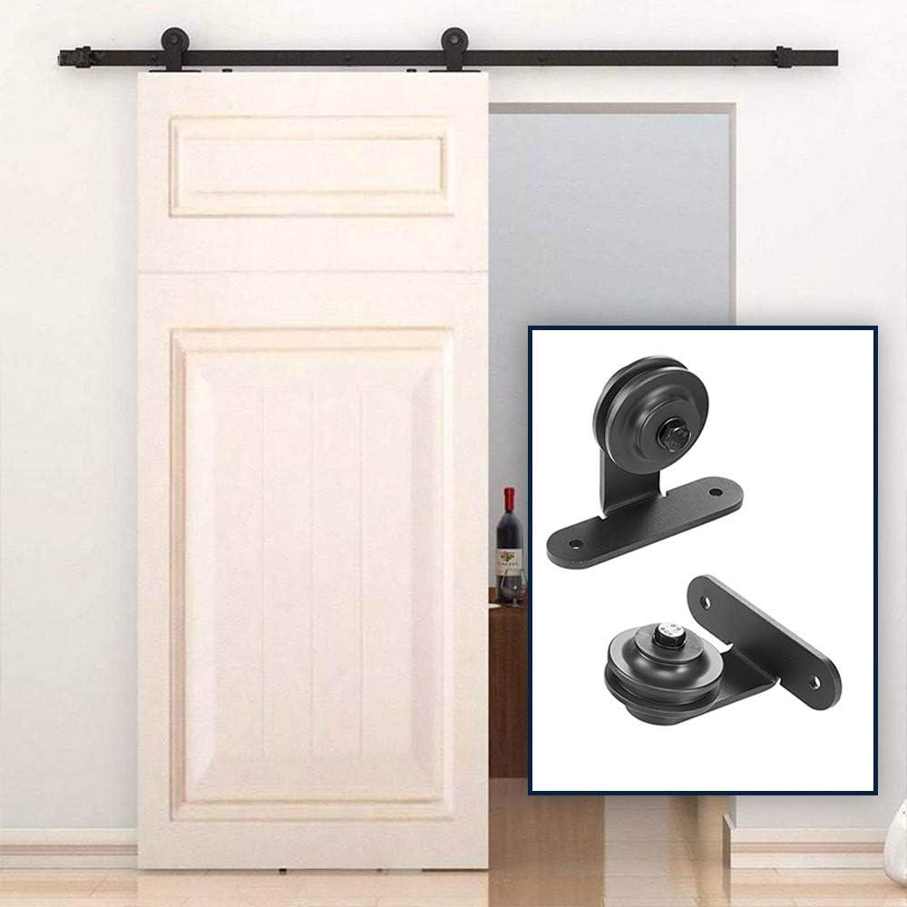Herraje para Puerta Corredera Kit de Accesorios para Puertas corredizas sistema de puertas correderas Riel 1.83 M / 2M (2M,Tipo T): Amazon.es: Bricolaje y herramientas