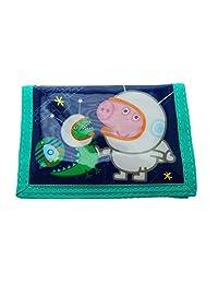 Peppa Pigs Cosmic George Tri-fold Velcro Easy Wipe Kids Wallet Purse