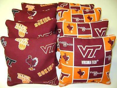Virginia Bag Tech Bean (8 Cornhole Bean Bags Virginia Tech Hokies Vt)