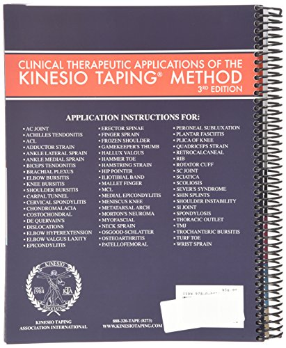 kinesiology tape manual applications pratiques