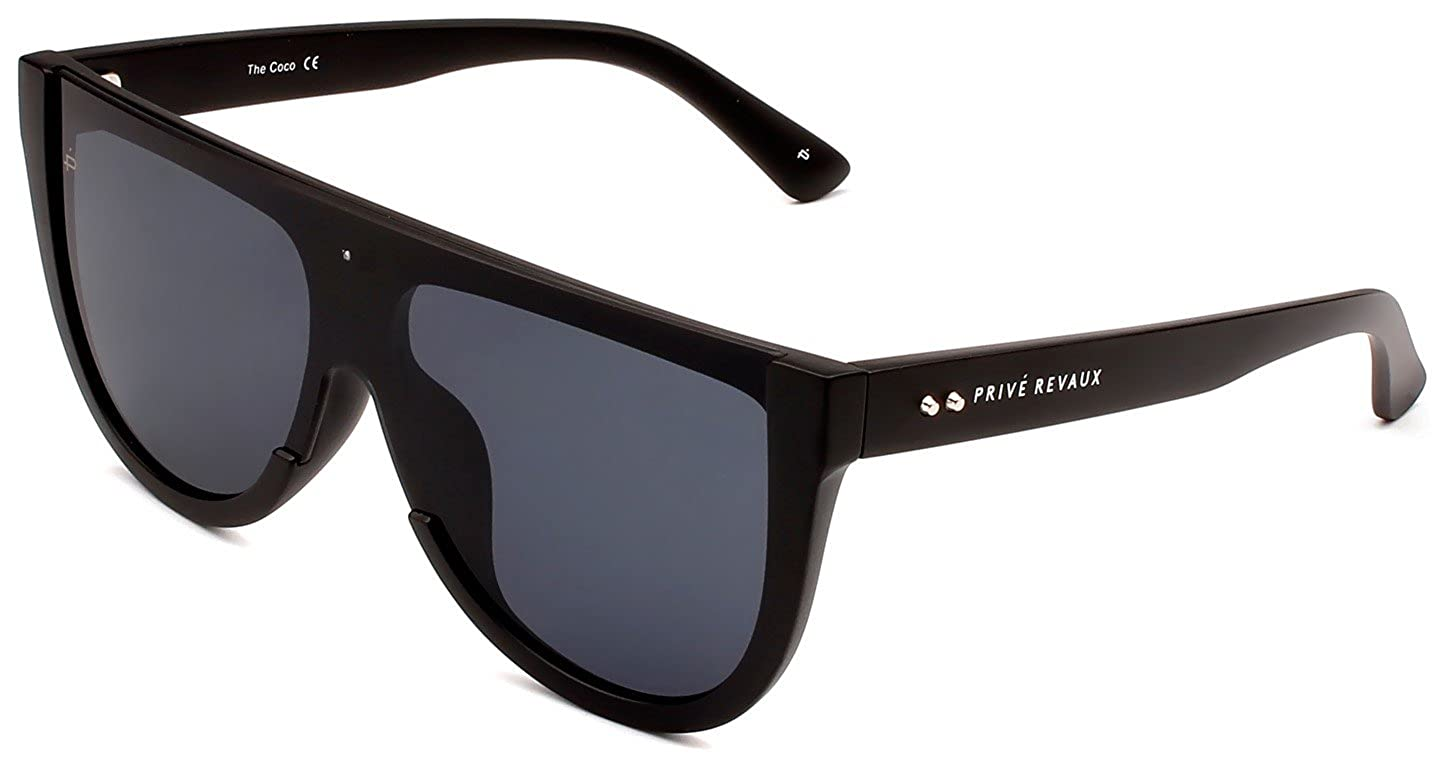 "85c1a7848158 Amazon.com: PRIVÉ REVAUX ICON Collection ""The Coco"" Designer Oversized  Sunglasses: Clothing"