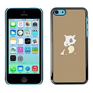 iPhone 5C - Metal de aluminio y de plástico duro Caja del teléfono - Negro - P0Kemon Character