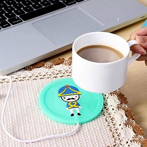 Togethluer USB Silicone Heat Warmer Heater,Milk Tea Coffee Mug Hot Drinks Beverage Cup Mat Red by Togethluer (Image #6)