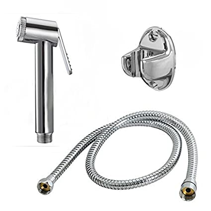 10X Health Faucet Premium Range Parry With One Meter Stainless Steel Tube & Hook || Bathroom Accessories || Hand Faucet || Hand Shower || Bathroom Faucet || Spray Gun ||Water Tap || Jet Spray || Bathroom Accessories || Taps and Faucets || Toilet Shower ||