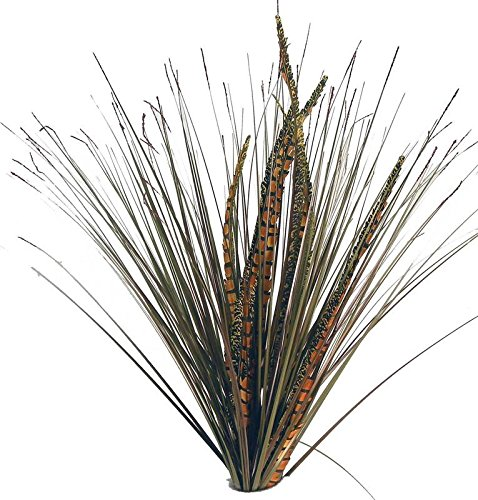(Factory Direct Craft Artificial Feather and Onion Grass Bushes | 2 Bushes | for Indoor Decor)