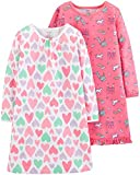 Carter's Girls 2-Pack Sleep Gowns, Unicorn Hearts, 4-5