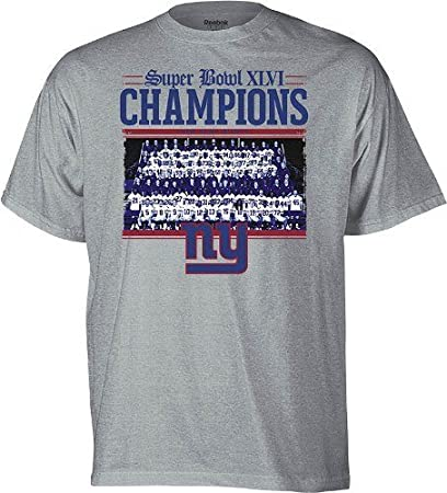 6c36266c3 Reebok New York Giants Super Bowl XLVI Champions Mens T-Shirt - 4X Large