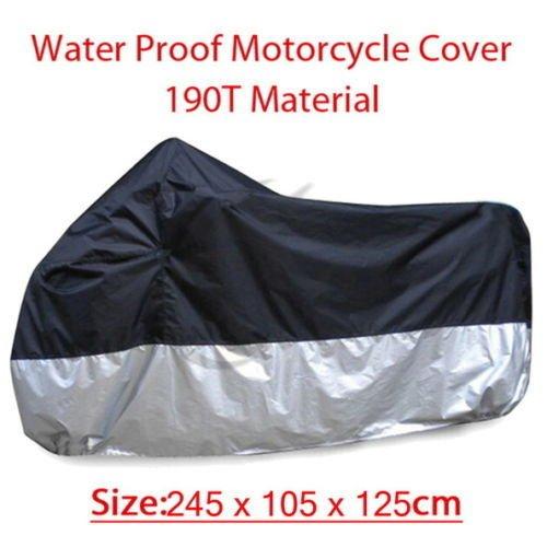 - XFMT Universal Motorcycle 190T Material Sunproof Waterproof Heatproof Cover UV Protector Compatible with Honda Kawasaki Suzuki Harley-Davision