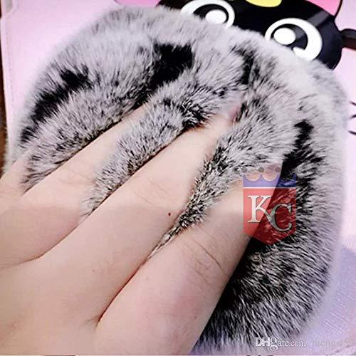 KC Cartoon Big Spectacles Fur Soft Bumper Silicon Back Cover for Mi Redmi Note 8 (Black)