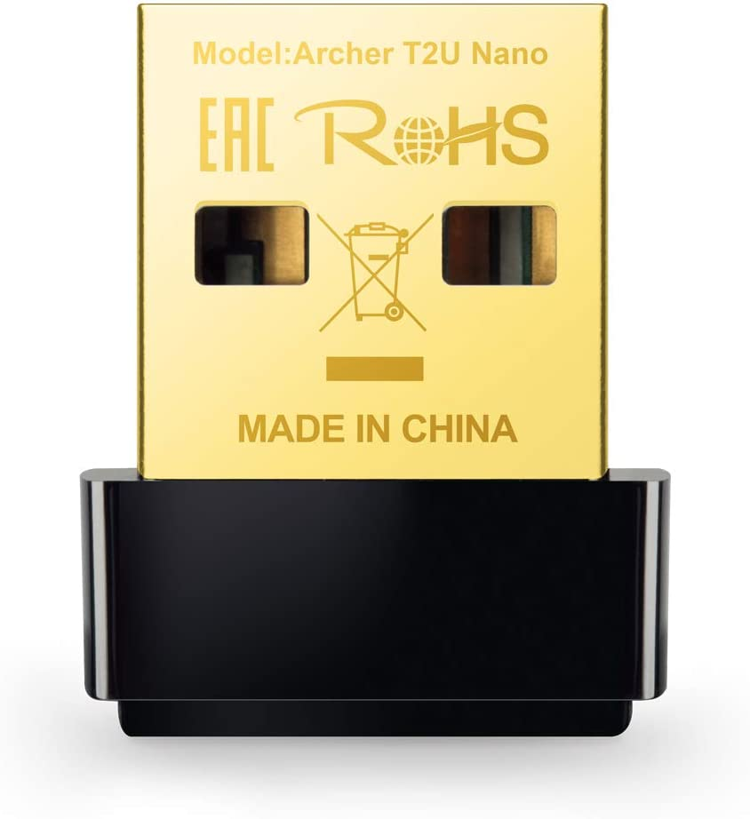 TP-Link WiFi 無線LAN 子機 AC600 433Mbps + 200Mbps Windows/Mac OS 対応 ナノ設計 デュアルバンド 3年保証 Archer T2U Nano