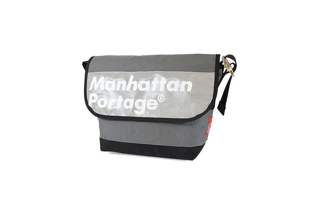 (マンハッタンポーテージ)Manhattan Portage MP1606V-JR-REF-L ロゴオン リフレクター ビンテージ メッセンジャー B01M0M8YXE GRY/BLK