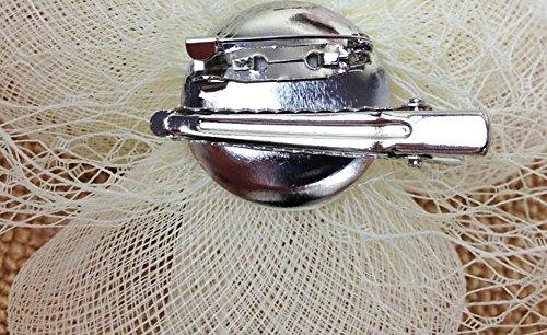 Caliadress Arc Volière Mariage Pince Fleur Cheveux Cocktail Mariage Visage Voile Blanc C007ts Blanc