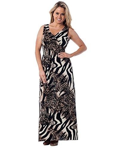 Zebra Print Sleeveless Dress - 4