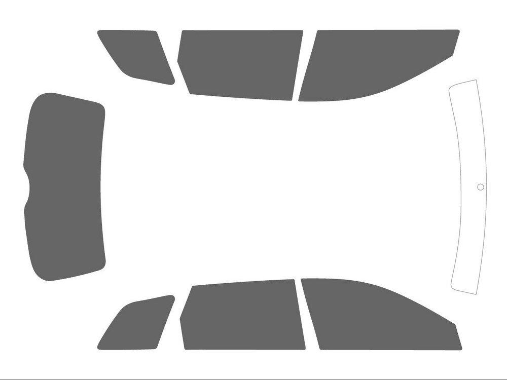 Noir Variance Auto Films Teint/és pour Auto Kit Complet Avant Black 35 - Arri/ère Black 05