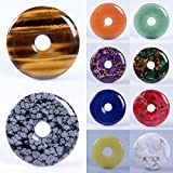 40mm Beautiful Gemstone Jasper Donut Pendant Bead DIY Jewelry Accessories For Necklace