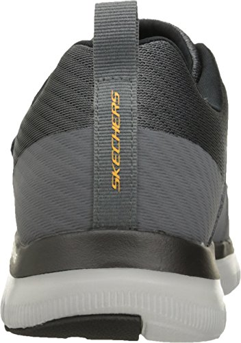 Skechers Mens Orange Sneaker Gurn Charcoal 0 Flex 2 Mens Advantage Sport Fashion rSwaq65r