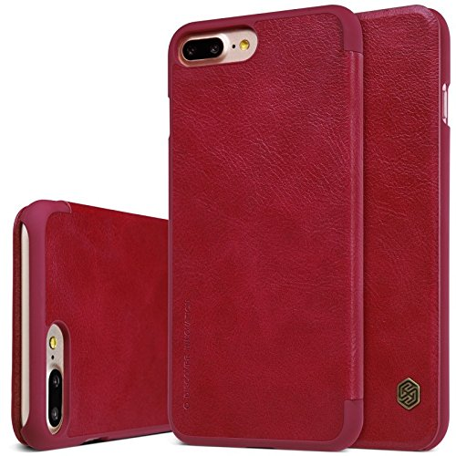 Nillkin ip7plus–qin-red Étui en cuir pour iPhone 7Plus, Rouge