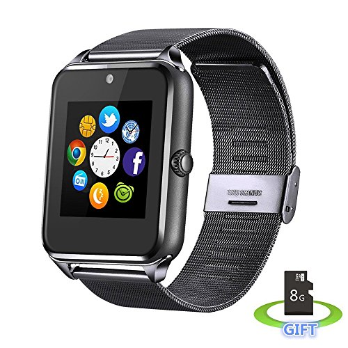 IRONLINK RK06 Sweatproof Smart Watch Phone for iPhone 5s/6/6s and 4.2 Android or Above SmartPhones Include 8G Micro SD Card