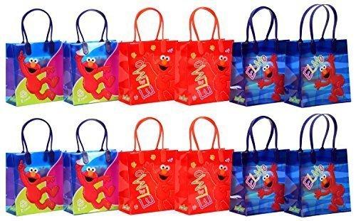 (Sesame Street Elmo Party Favor Goodie Gift Bag - 6