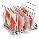 Food Rack, Ragdoll50 Vacuum Rack Pouch Stainless Steel Adjustable Circulators Modern Food Frame Immersion Stand Shell for Cooling, Freezing and Smoking