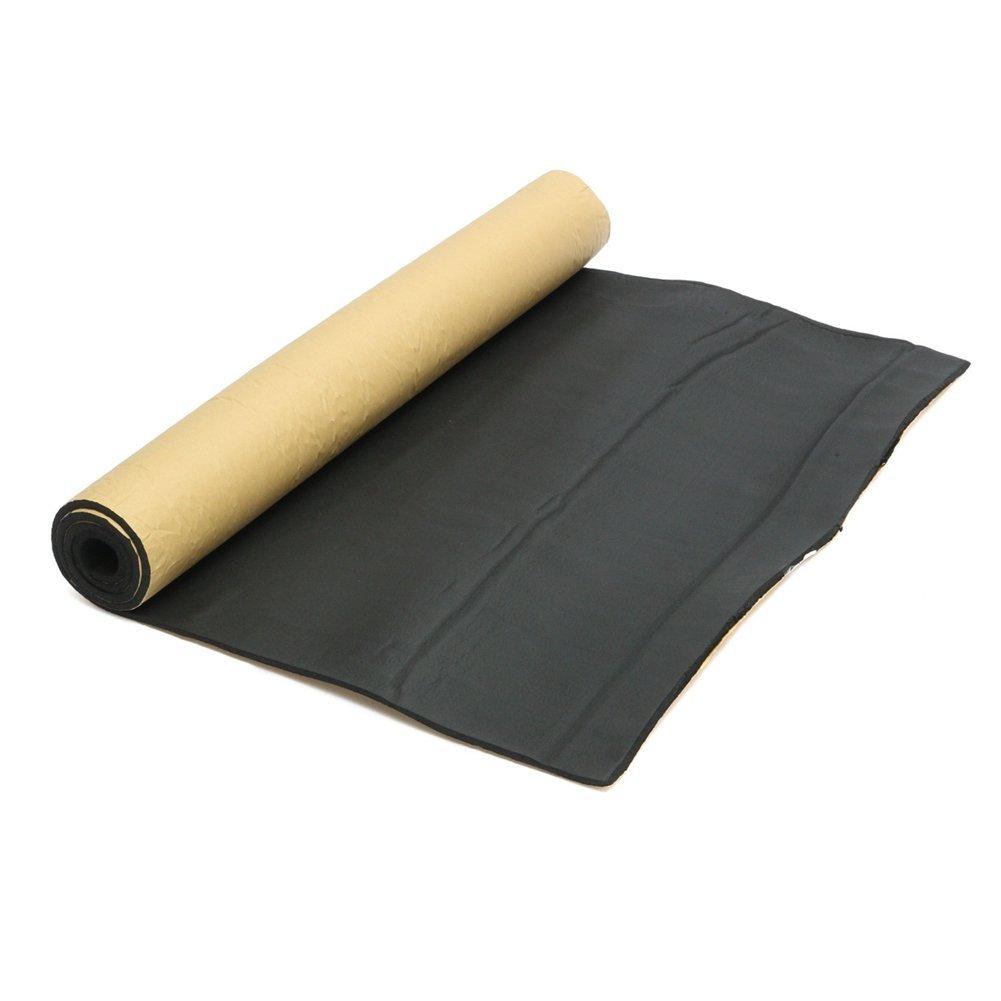 Free Size Noir Ganquer 200x100cm Isolation Mousse Tapis 10mm Capot Voiture Autocollant