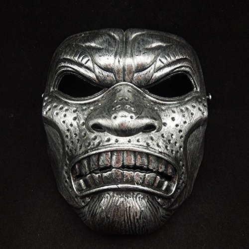 [MASK PARTY - Halloween Killer Clown Horror Party Deluxe Costume Prop Masquerade Prom Carnival Mask (Sparta] (Half Doll Half Zombie Costume)