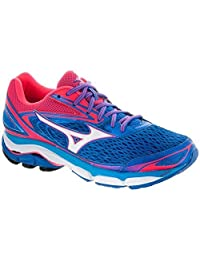 Mizuno Womens Shoes Running Trainers Wave Inspire 13 Blue/White/Pink