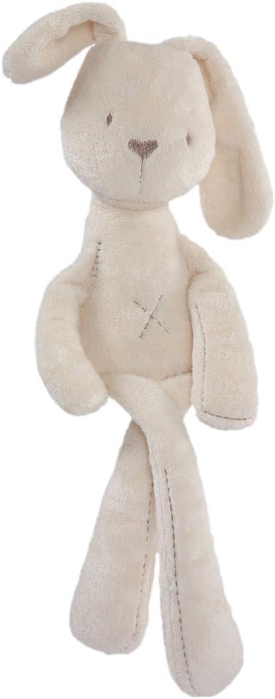 MagiDeal Felpa de Bebé Regalos de Cumpleaños Lindos Suaves Dulces Forma de Conejo Beige 55cm Juguetes Blandos para Niños