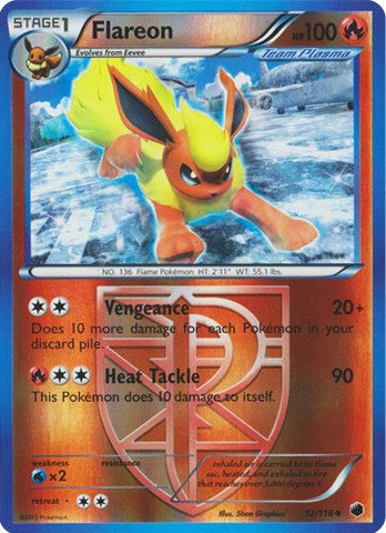 Pokemon - Flareon (12/116) - Plasma Freeze - Reverse Holo