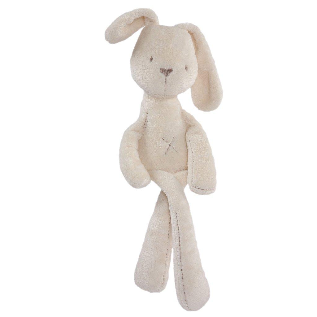 MagiDeal Felpa de Bebé Regalos de Cumpleaños Lindos Suaves Dulces Forma de Conejo Beige 55cm Juguetes