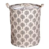 crate and barrel footstools GreenSun(TM) Large Bucket Drawstring Beam Port Dirty Clothes Laundry Basket Foldable Toys Storage Organizer Household Sundries Bag Black tree