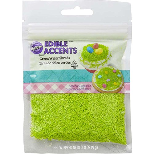 Grass Edible (Wilton Industries Green Easter Grass Sprinkles)
