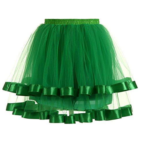 Couch Elastique Princesse jupon Vert BiilyLi longue Taille Multi Petticoat En Tulle jupe Danse Femme Mi tulle Tutu Jupe Vintage Robe C0XxwaqX