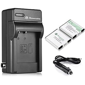 Powerextra 2 PCS Replacement NP-BN1 Rechargeable Battery + Charger For Sony Cyber-shot DSC-QX10 DSC-QX30 DSC-QX100 DSC-TF1 DSC-TX10 DSC-TX20 DSC-TX30 DSC-W530 DSC-W570 DSC-W650 DSC-W800 DSC-W830