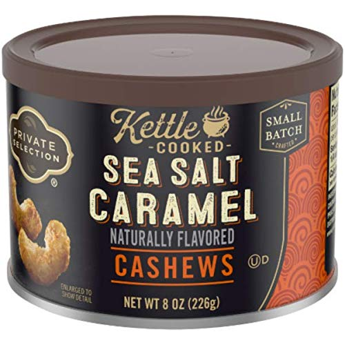 (Private Selection Kettle Cooked Sea Salt Caramel Cashews 8 oz (Pack of 2))