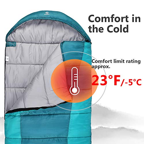 Bessport Sleeping Bag Winter 14 -10 Extreme 3-4 Season Warm Cool Weather Adult Sleeping Bags Large Lightweight, Waterproof for Camping, Backpacking, Hiking