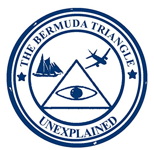 (The Bermuda Triangle Die Cut Auto Car Vinyl Decal Sticker X-Files Type UFO Saucer Aliens Science Fiction Humor Comics Horror Cryptids Creatures Monster Emblem Badge Application)