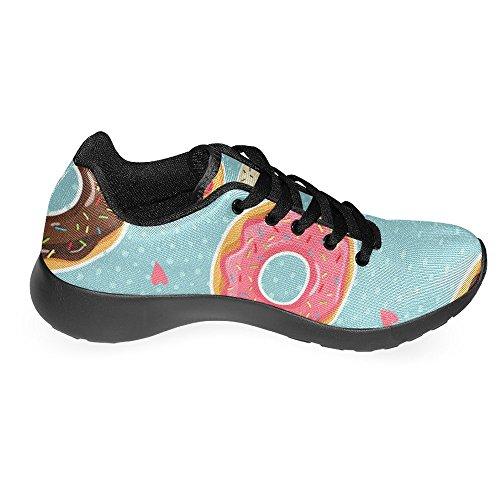Interestprint Femmes Jogging Running Sneaker Léger Aller Facile À Pied Casual Confort Sport Chaussures De Course Beignets Mignons Avec Vitrage Coloré Multi 1