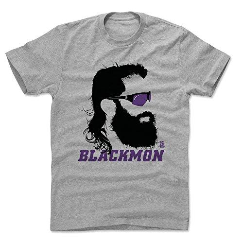 500 LEVEL Charlie Blackmon Cotton Shirt Large Heather Gray - Colorado Baseball Men's Apparel - Charlie Blackmon Silhouette P