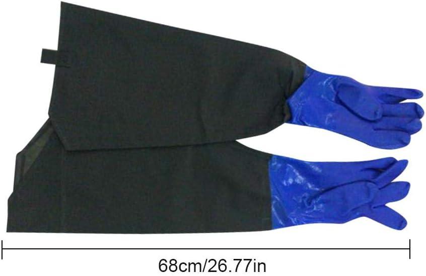Goma de limpieza guantes con el algodón forro de largas casquillos de reutilizable impermeable fuerte presupuesto de invierno de trabajo de guante de Auto Herramienta de waschendem, Azul: Amazon.es: Bricolaje y herramientas