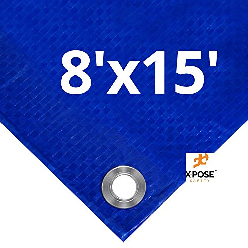 Xpose Safety Blue Poly Tarp 8' x 15'