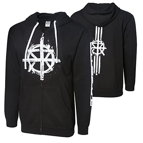 WWE Seth Rollins Burn it Down Full Zip Youth Hoodie Sweatshirt Black Medium by WWE Authentic Wear
