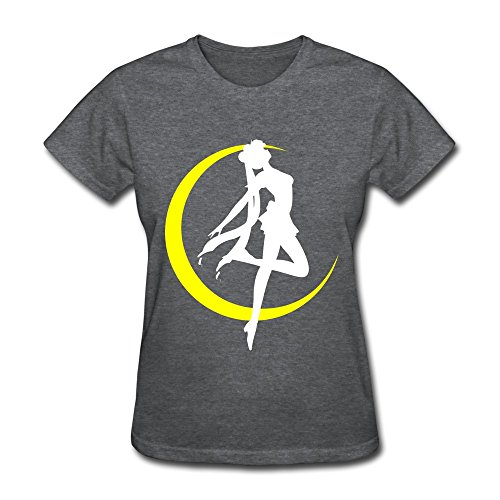 Funny Sailor Moon In Water Ice Silhouette USA Women's T-shirt DeepHeather Size XS ()
