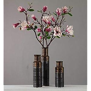 "Rinlong 8pcs Artificial Magnolia Flowers Branch 36"" Silk Fake Flower Stems for Home Decor 62"