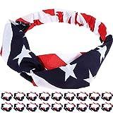 American Independence Day Flag Elastic Hair Ring Headband, American Flag Loose Hair Hoop, Patriotic Simple Hair Decoration for Men and Women, Patriotic Accessories