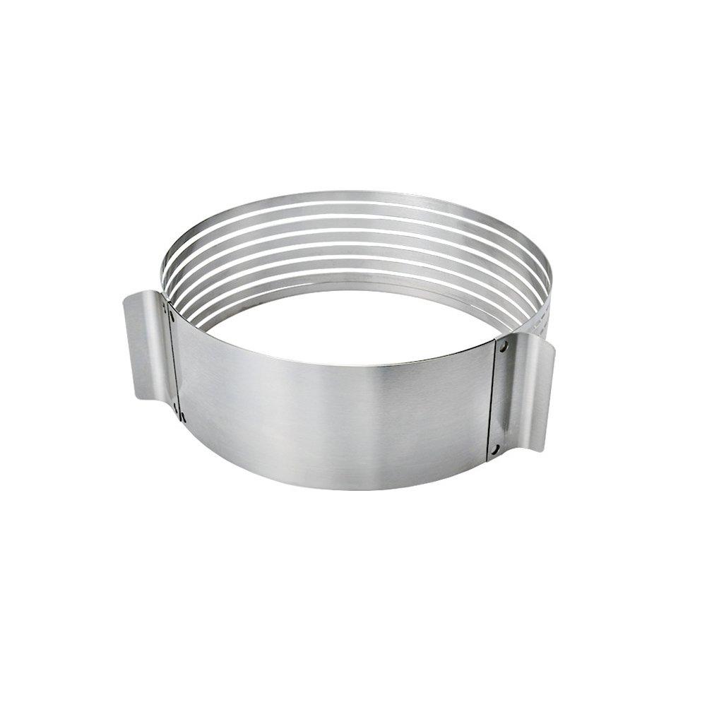 Ajustable capa para tartas de acero inoxidable molde AW