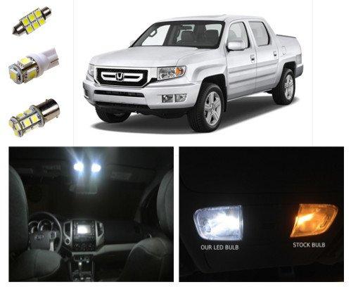 Honda Ridgeline LED Package Interior + Tag + Reverse Lights (19 pieces)