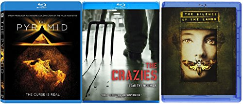 Silence of the Lambs The Crazies & The Pyramid Blu Ray Scary Horror Thriller Movie Collection