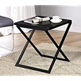 Olee Sleep Galaxy Granite Top Dura Metal Frame Coffee Table/ Tea Table / End Table/ Side Table/ Office Table/ Computer Table / Vanity Table/ Dining Table, Black